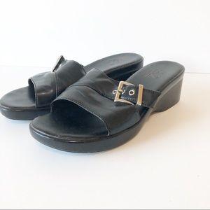 A2 by Aerosoles   Black slip on sandals